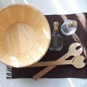 Solid Wood Serving / Salad Bowl